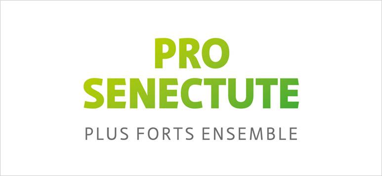 """Logo de Pro Senectute Vaud en vert et la mention """"plus forts ensemble"""""""