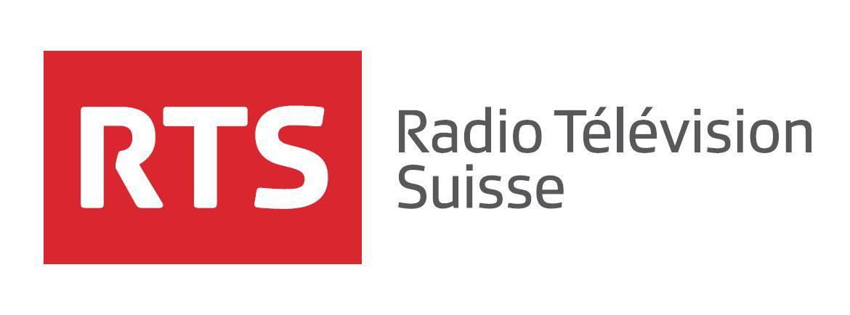 Logo de la RTS, radio télévision suisse.