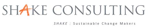 Logo de l'entreprise Shakeconsulting. Shake: sustainable change makers.