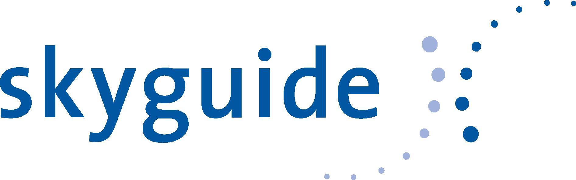 Logo de Skyguide, société de navigation aérienne.