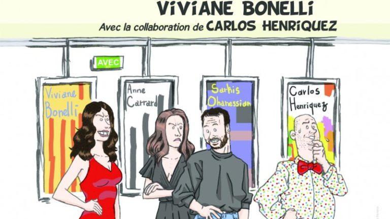 """Affiche de la pièce """"Peindre à tout prix"""" de Viviane Bonelli."""